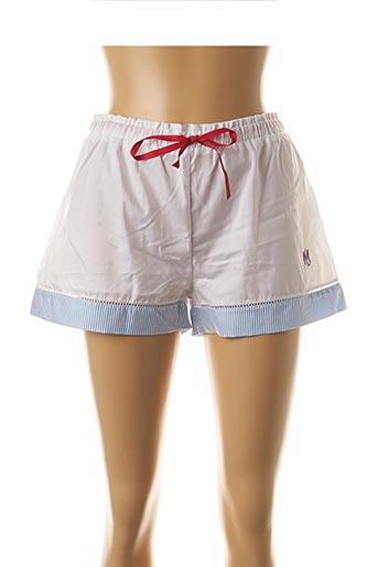 Pyjashort blanc LEJABY pour femme