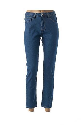 Jeans coupe droite bleu BEMULAN pour femme