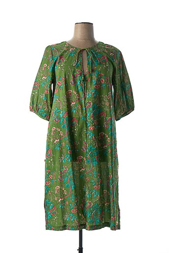 Robe mi-longue vert BLA-BLA pour femme