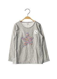 T-shirt manches longues gris ESPRIT pour fille