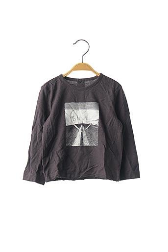 T-shirt manches longues gris ORIGINAL MARINES pour fille