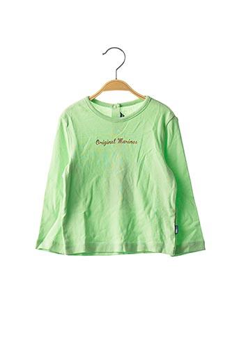 T-shirt manches longues vert ORIGINAL MARINES pour fille