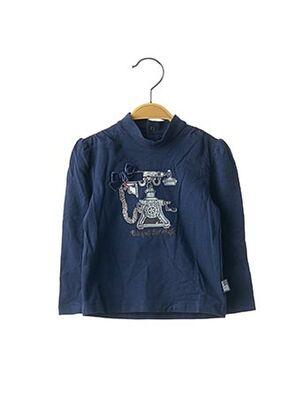 T-shirt manches longues bleu ORIGINAL MARINES pour fille