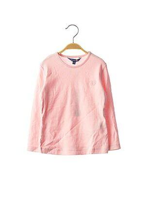 T-shirt manches longues rose ORIGINAL MARINES pour fille