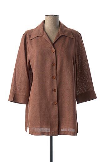 Veste casual marron KARTING pour femme