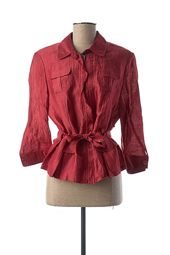 Veste casual rouge LEBEK pour femme