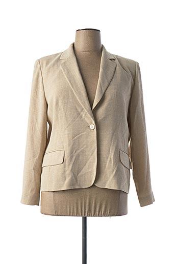 Veste chic / Blazer beige FEDORA pour femme