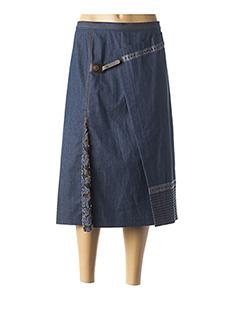 Jupe mi-longue bleu BRIGITTE SAGET pour femme