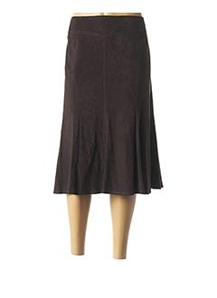 Jupe mi-longue marron LEBEK pour femme