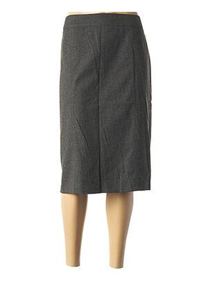 Jupe mi-longue gris LEBEK pour femme