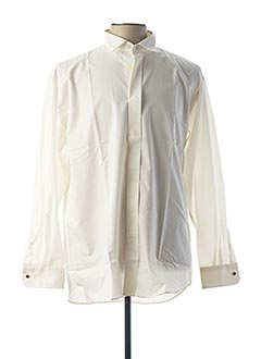 Chemise manches courtes beige PLAYBOY pour homme