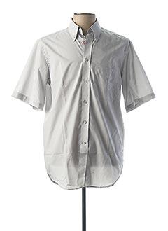 Chemise manches courtes gris CAMBRIDGE pour homme