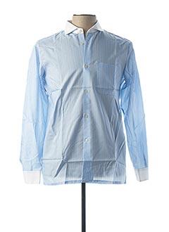 Chemise manches longues bleu PIERRE CLARENCE pour homme