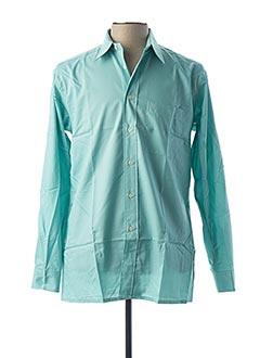 Chemise manches longues vert PIERRE CARDIN pour homme