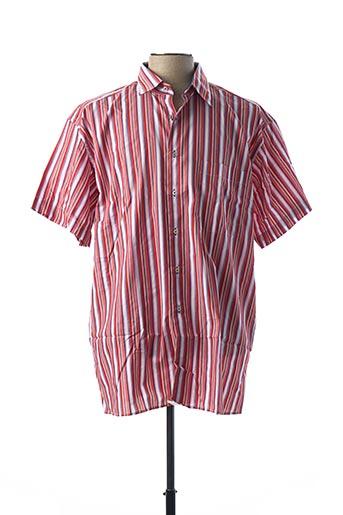 Chemise manches courtes rouge HORIZON pour homme