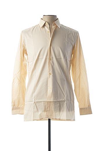 Chemise manches longues beige ILE DE FRANCE pour homme