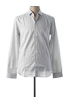 Chemise manches longues blanc PIERRE CLARENCE pour homme