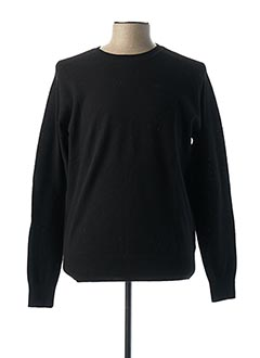 Pull col rond noir LEE pour homme