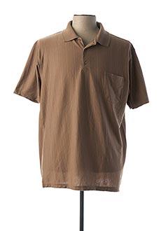 Polo manches courtes marron MONTE CARLO pour homme