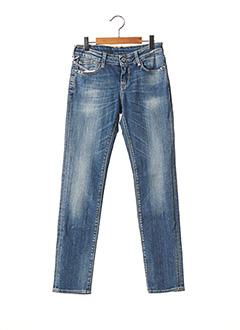 Jeans coupe slim bleu LE TEMPS DES CERISES pour fille