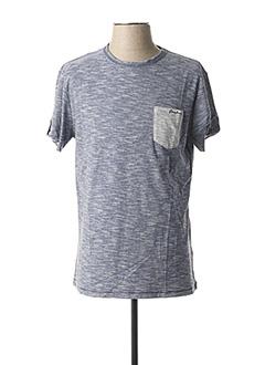 T-shirt manches courtes bleu DEELUXE pour homme