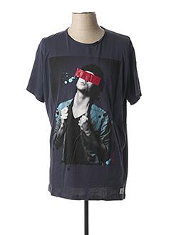 T-shirt manches courtes bleu PEPE JEANS pour homme