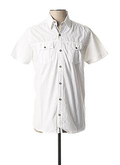 Chemise manches courtes blanc REDSKINS pour homme
