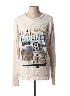 T-shirt manches longues beige MCS pour homme
