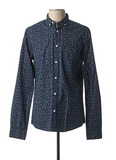 Chemise manches longues bleu DEELUXE pour homme