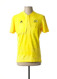 T-shirt manches courtes jaune LE COQ SPORTIF pour homme