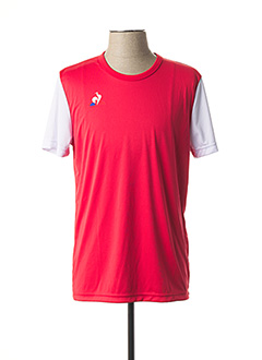 T-shirt manches courtes rouge LE COQ SPORTIF pour homme