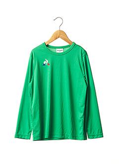 T-shirt manches longues vert LE COQ SPORTIF pour enfant