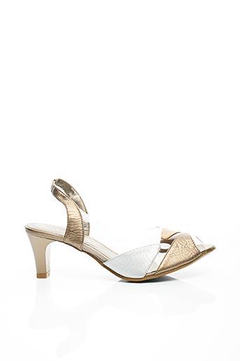 Sandales/Nu pieds beige CARLINE pour femme