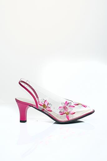 Sandales/Nu pieds rose CARLINE pour femme