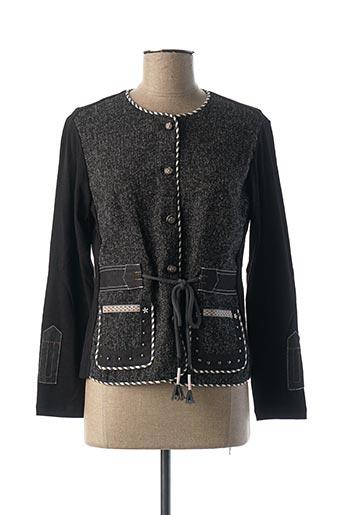 Veste casual noir POUPEE CHIC pour femme