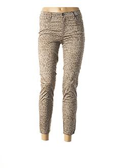 Pantalon 7/8 marron EMMA & CARO pour femme