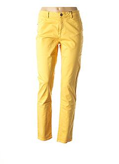 Pantalon casual jaune EMMA & CARO pour femme