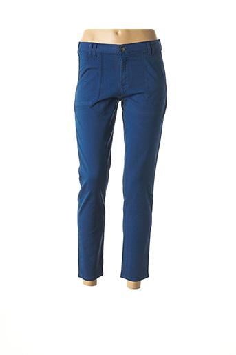 Pantalon 7/8 bleu EMMA & CARO pour femme