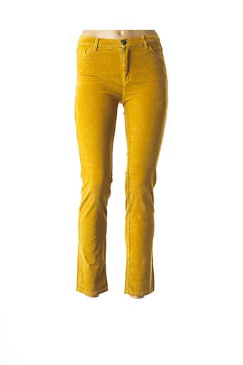 Pantalon 7/8 jaune NICE THINGS pour femme