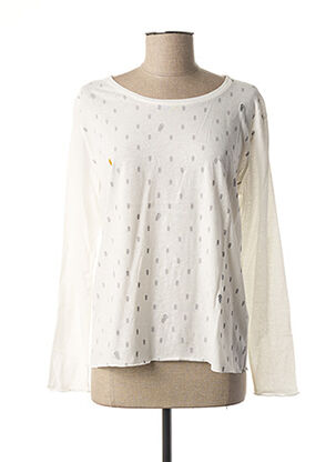 T-shirt manches longues blanc DIPLODOCUS pour femme