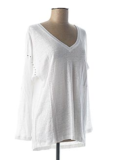 T-shirt manches longues blanc REPLAY pour femme