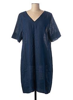 Robe mi-longue bleu ZYGA pour femme