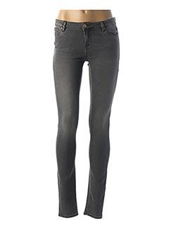 Jeans skinny gris SCHOOL RAG pour femme
