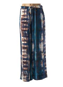 Pantalon casual bleu LA FEE MARABOUTEE pour femme