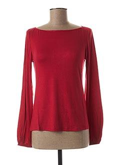 T-shirt manches longues rouge BLANC BOHEME pour femme