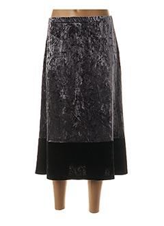 Jupe mi-longue gris BLANC BOHEME pour femme