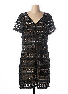 Robe mi-longue noir CRISTINA EFFE pour femme