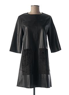 Robe courte noir CUBIC pour femme