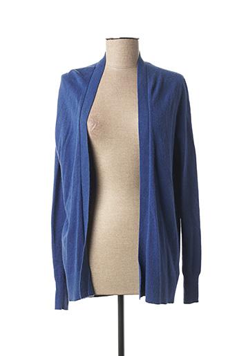 Gilet manches longues bleu ARTLOVE pour femme