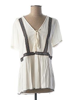 Blouse manches courtes blanc VILA pour femme